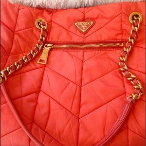 PRADA Melon Color Handbag